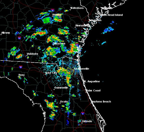 Radar Image for Severe Thunderstorms near Jacksonville, FL at 7/3/2019 3:22 PM EDT