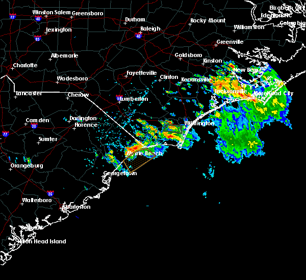 Radar Image for Severe Thunderstorms near Myrtle Beach, SC at 7/3/2019 3:24 PM EDT