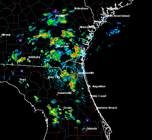 Radar Image for Severe Thunderstorms near Jacksonville, FL at 7/3/2019 3:33 PM EDT