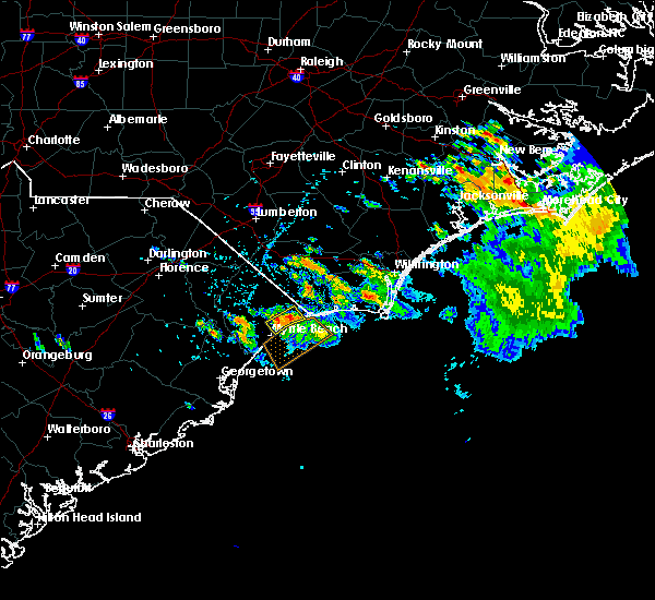 Radar Image for Severe Thunderstorms near Myrtle Beach, SC at 7/3/2019 3:39 PM EDT