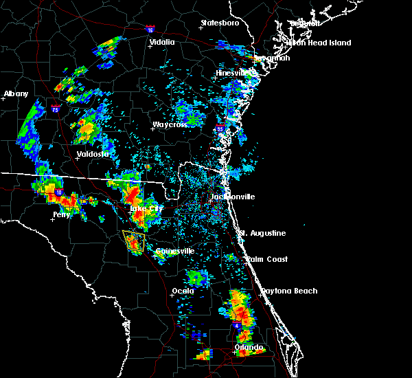 Radar Image for Severe Thunderstorms near Alachua, FL at 7/3/2019 6:01 PM EDT