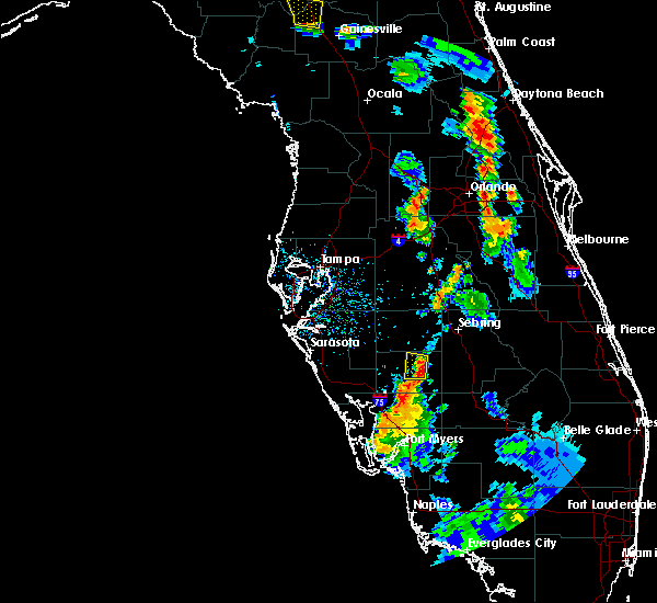 Radar Image for Severe Thunderstorms near Southeast Arcadia, FL at 7/3/2019 6:00 PM EDT