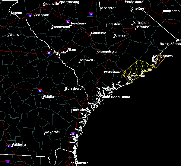 Radar Image for Severe Thunderstorms near Mount Pleasant, SC at 7/3/2019 6:12 PM EDT