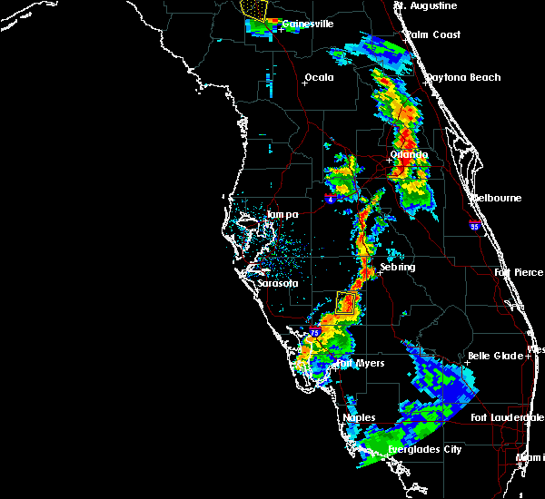 Radar Image for Severe Thunderstorms near Southeast Arcadia, FL at 7/3/2019 6:24 PM EDT