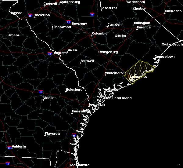 Radar Image for Severe Thunderstorms near Mount Pleasant, SC at 7/3/2019 6:25 PM EDT