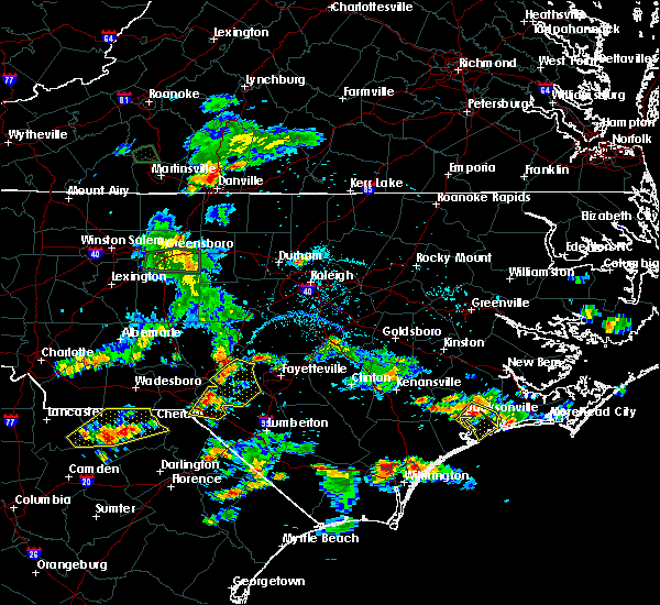 Radar Image for Severe Thunderstorms near Fayetteville, NC at 6/19/2015 7:05 PM EDT