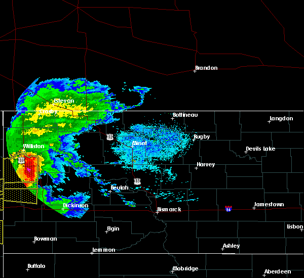 Radar Image for Severe Thunderstorms near Four Bears Village, ND at 6/19/2015 6:05 PM CDT