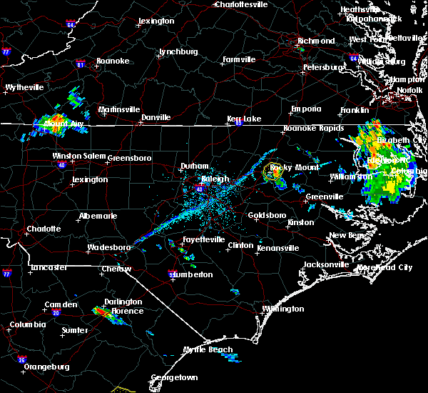 Radar Image for Severe Thunderstorms near Rocky Mount, NC at 7/3/2019 6:57 PM EDT