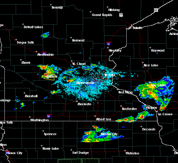 Radar Image for Severe Thunderstorms near Willmar, MN at 7/3/2019 5:58 PM CDT