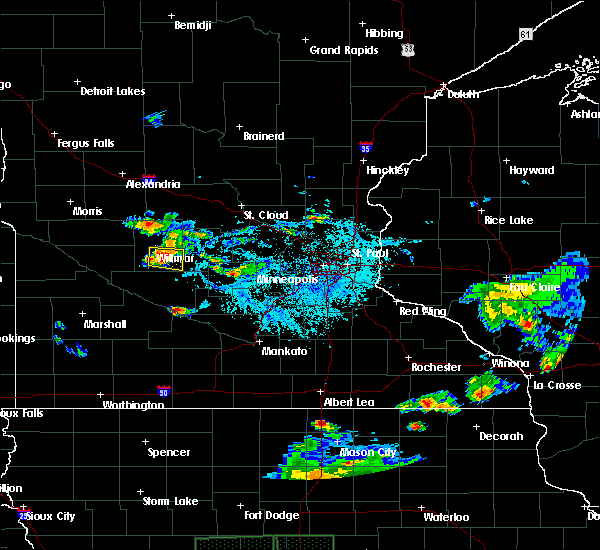 Radar Image for Severe Thunderstorms near Willmar, MN at 7/3/2019 6:08 PM CDT