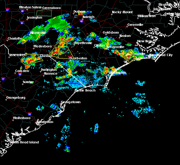 Radar Image for Severe Thunderstorms near Pembroke, NC at 6/19/2015 7:15 PM EDT