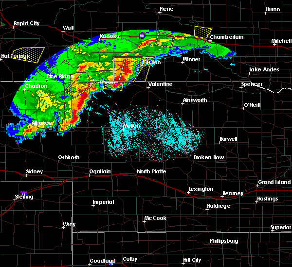 Radar Image for Severe Thunderstorms near St. Francis, SD at 7/3/2019 8:13 PM CDT