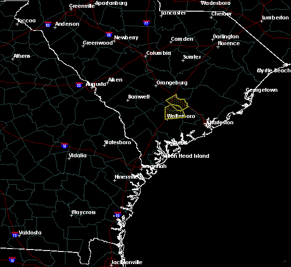 Radar Image for Severe Thunderstorms near Walterboro, SC at 7/3/2019 9:29 PM EDT