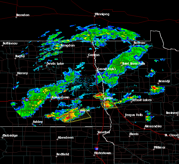 Radar Image for Severe Thunderstorms near Baker, MN at 7/3/2019 9:09 PM CDT