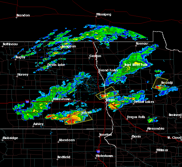 Radar Image for Severe Thunderstorms near Wilton, MN at 7/3/2019 9:29 PM CDT