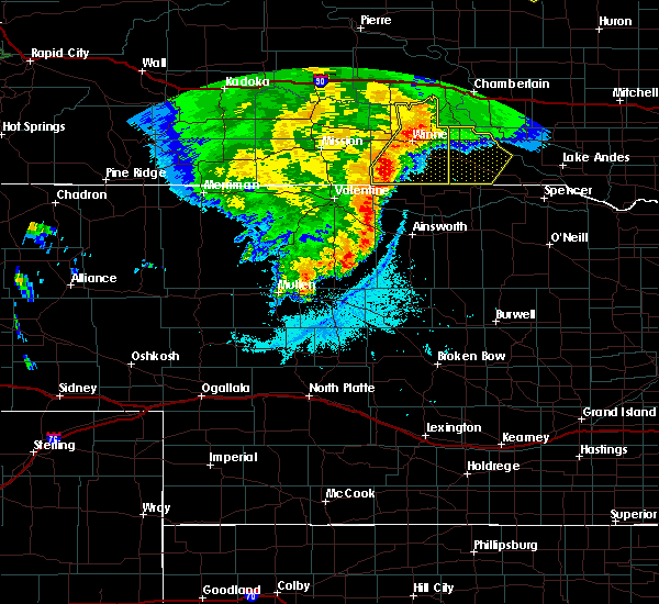 Radar Image for Severe Thunderstorms near St. Charles, SD at 7/3/2019 10:17 PM CDT