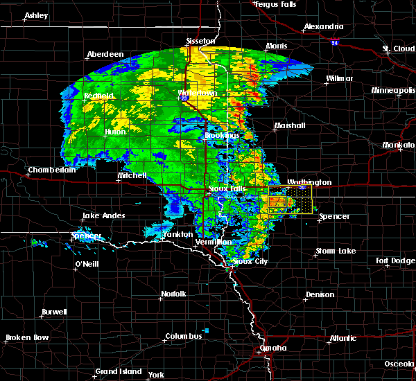 Radar Image for Severe Thunderstorms near Sibley, IA at 7/4/2019 3:34 AM CDT