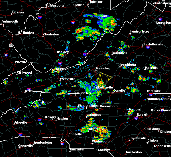 Radar Image for Severe Thunderstorms near Union Hall, VA at 7/4/2019 1:28 PM EDT