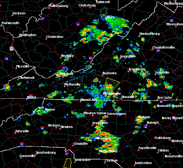 Radar Image for Severe Thunderstorms near Union Hall, VA at 7/4/2019 1:47 PM EDT