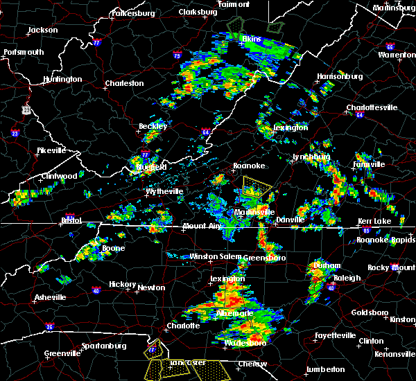 Radar Image for Severe Thunderstorms near Union Hall, VA at 7/4/2019 2:06 PM EDT