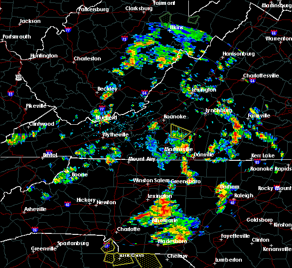 Radar Image for Severe Thunderstorms near Union Hall, VA at 7/4/2019 2:13 PM EDT