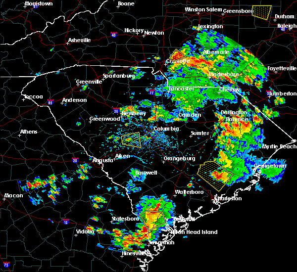 Radar Image for Severe Thunderstorms near Moncks Corner, SC at 7/4/2019 3:46 PM EDT