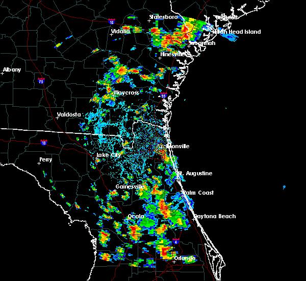 Radar Image for Severe Thunderstorms near Jacksonville, FL at 7/4/2019 3:52 PM EDT