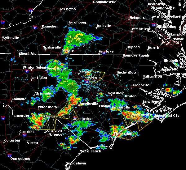 Radar Image for Severe Thunderstorms near Vander, NC at 6/19/2015 7:49 PM EDT