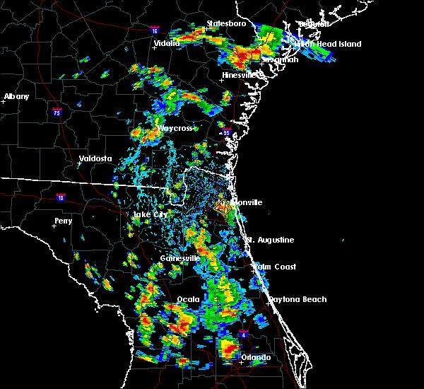 Radar Image for Severe Thunderstorms near Jacksonville, FL at 7/4/2019 4:14 PM EDT