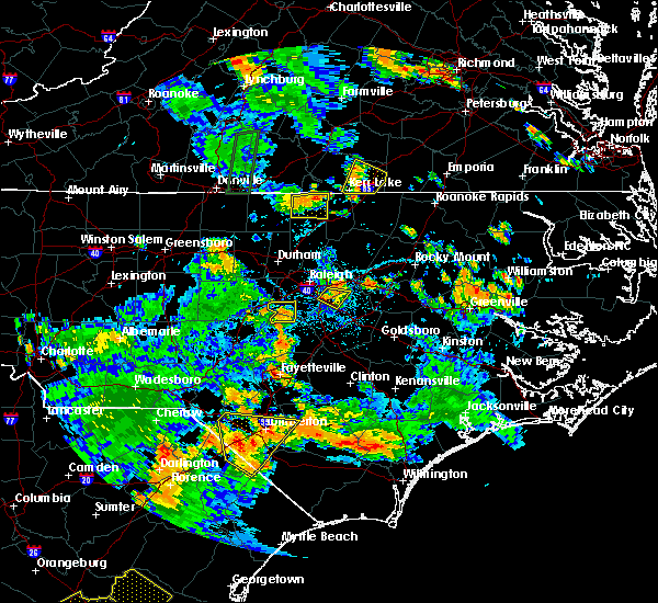 Radar Image for Severe Thunderstorms near Clayton, NC at 7/4/2019 4:38 PM EDT