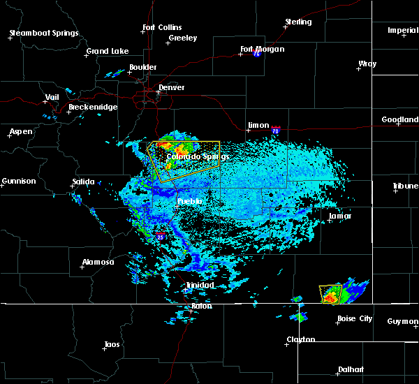 Radar Image for Severe Thunderstorms near Fountain, CO at 7/4/2019 3:38 PM MDT