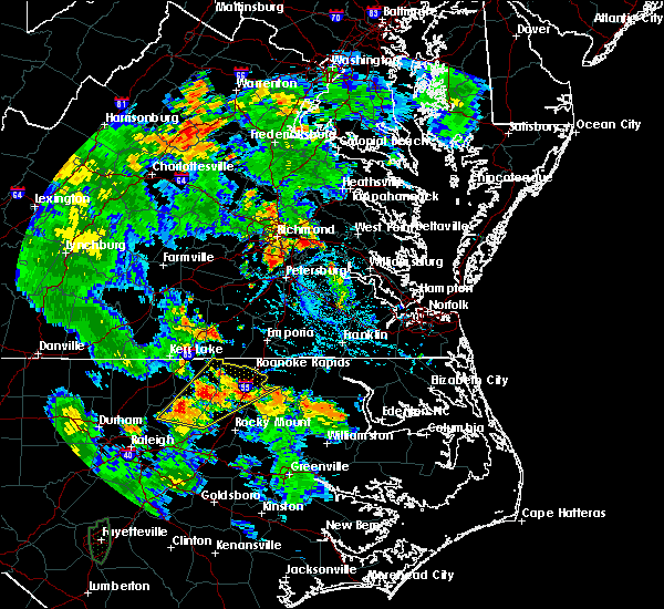 Radar Image for Severe Thunderstorms near Halifax, NC at 7/4/2019 5:59 PM EDT