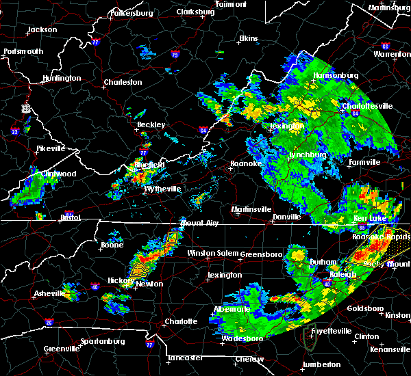 Radar Image for Severe Thunderstorms near Stony Point, NC at 7/4/2019 6:09 PM EDT