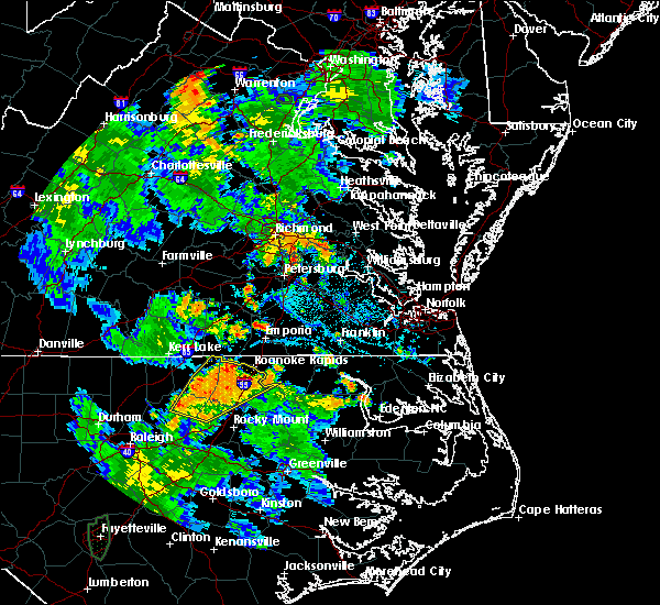 Radar Image for Severe Thunderstorms near Halifax, NC at 7/4/2019 6:28 PM EDT
