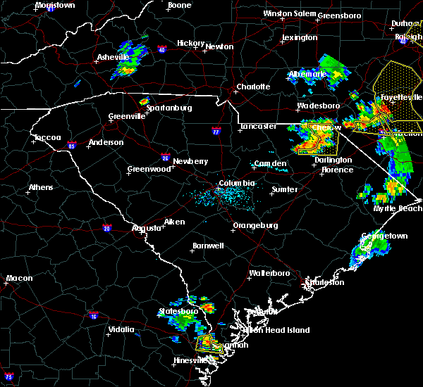 Radar Image for Severe Thunderstorms near McColl, SC at 6/19/2015 8:06 PM EDT