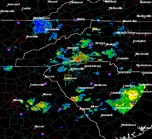Radar Image for Severe Thunderstorms near Flat Rock, NC at 7/4/2019 8:38 PM EDT