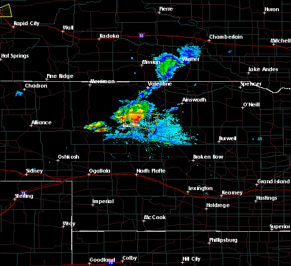 Radar Image for Severe Thunderstorms near Brownlee, NE at 7/4/2019 7:59 PM CDT