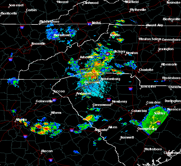 Radar Image for Severe Thunderstorms near Tryon, NC at 7/4/2019 9:12 PM EDT