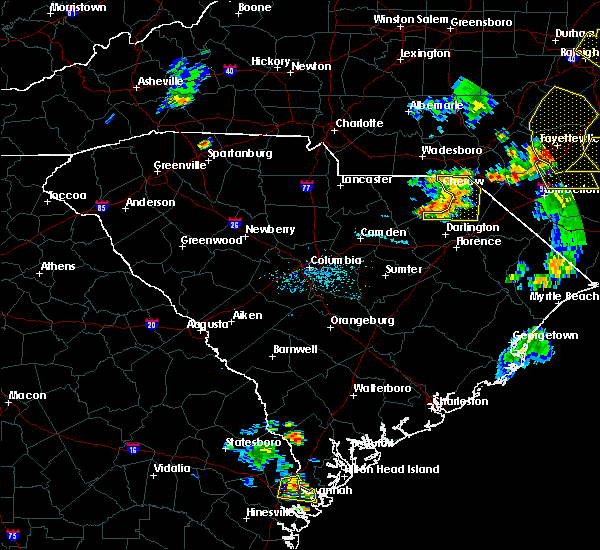 Radar Image for Severe Thunderstorms near McColl, SC at 6/19/2015 8:16 PM EDT
