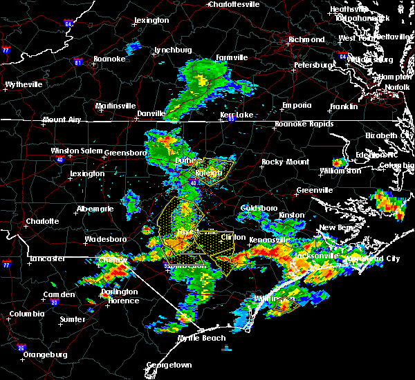 Radar Image for Severe Thunderstorms near Hope Mills, NC at 6/19/2015 8:23 PM EDT