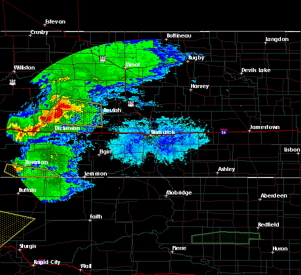 Radar Image for Severe Thunderstorms near Beulah, ND at 6/19/2015 6:24 PM MDT