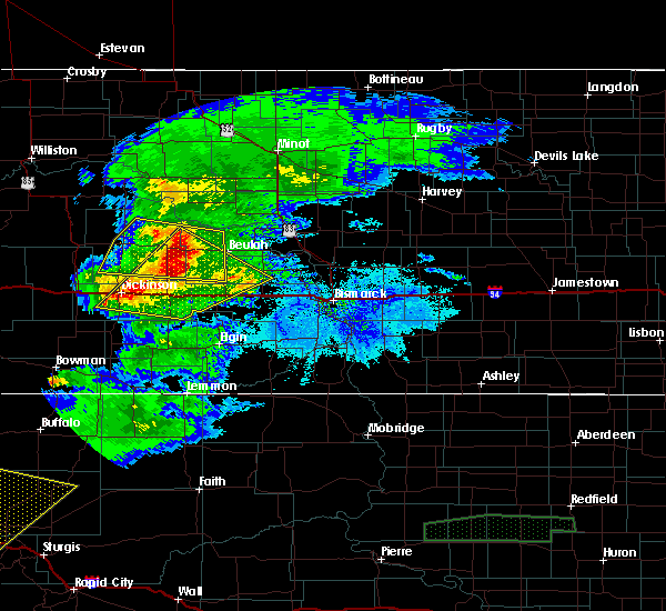 Radar Image for Severe Thunderstorms near Beulah, ND at 6/19/2015 6:41 PM MDT