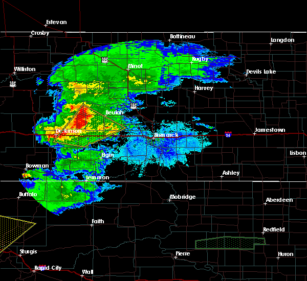 Radar Image for Severe Thunderstorms near Beulah, ND at 6/19/2015 6:54 PM MDT