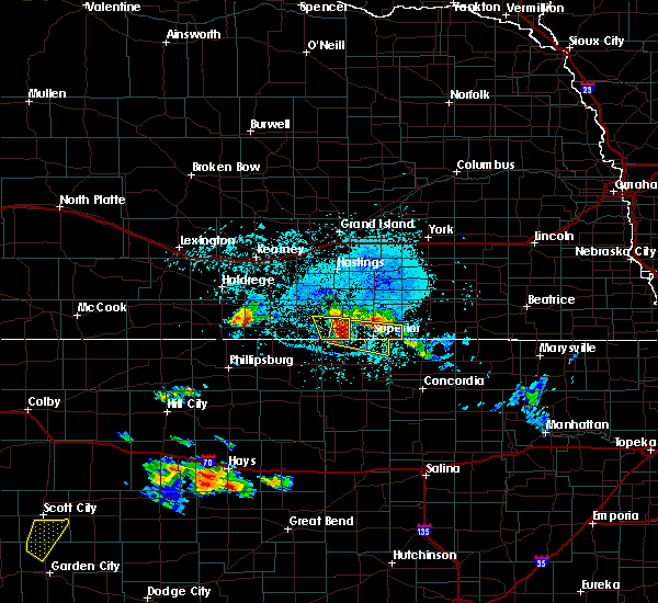 Radar Image for Severe Thunderstorms near Guide Rock, NE at 7/5/2019 6:00 PM CDT