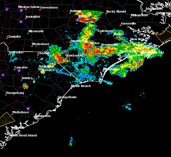 Radar Image for Severe Thunderstorms near Pembroke, NC at 6/19/2015 9:12 PM EDT