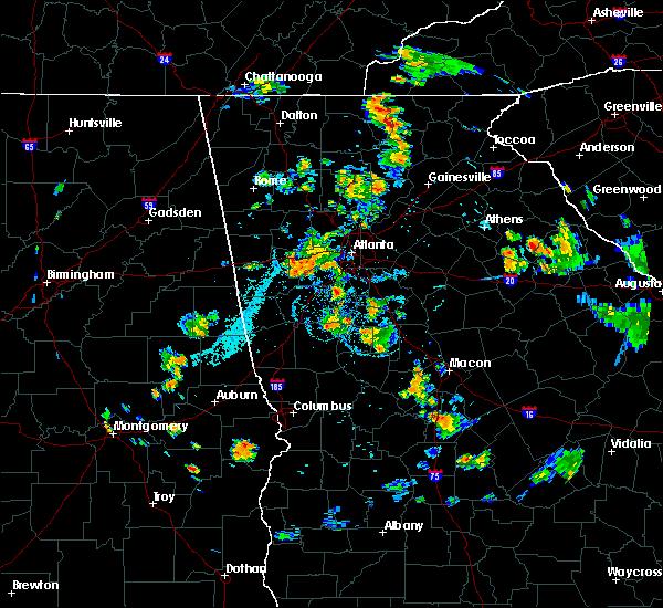 Radar Image for Severe Thunderstorms near Fayetteville, GA at 7/5/2019 7:25 PM EDT