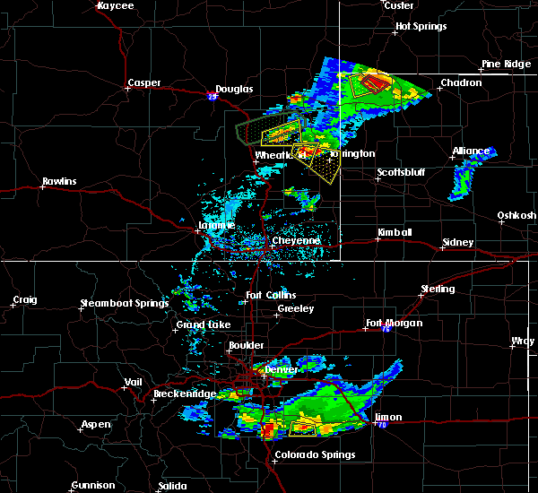 Radar Image for Severe Thunderstorms near Lingle, WY at 7/5/2019 5:27 PM MDT
