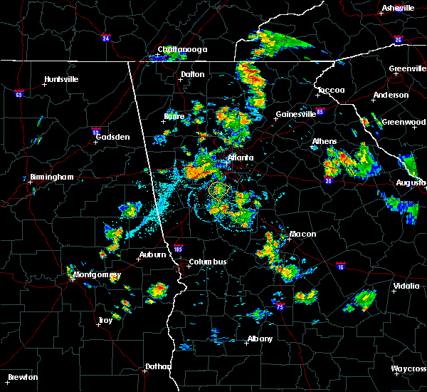 Radar Image for Severe Thunderstorms near Fayetteville, GA at 7/5/2019 7:38 PM EDT