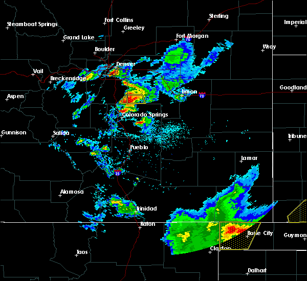 Radar Image for Severe Thunderstorms near Black Forest, CO at 7/5/2019 6:15 PM MDT