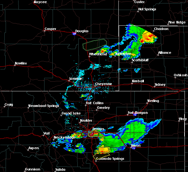 Radar Image for Severe Thunderstorms near Fort Laramie, WY at 7/5/2019 6:29 PM MDT